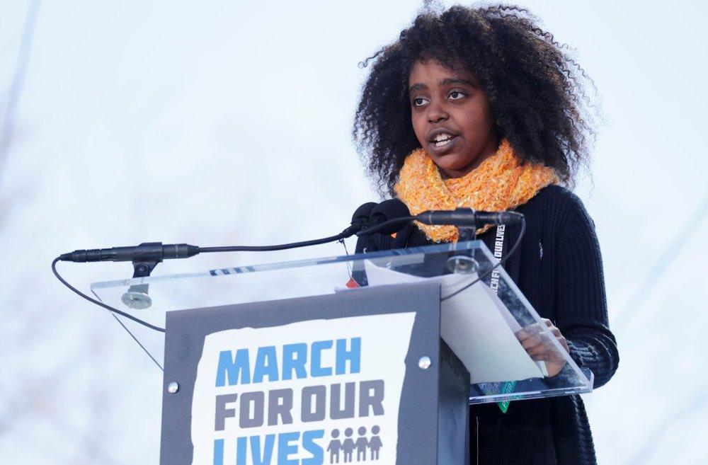 Naomi Wadler (Image: Jonathan Ernst, Reuters)