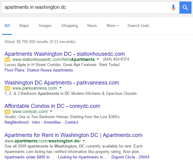 Adwords Search Intent