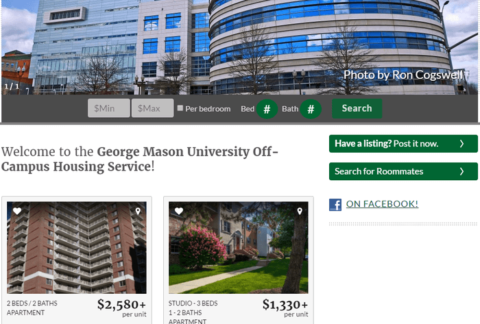 George Mason Apartment Search