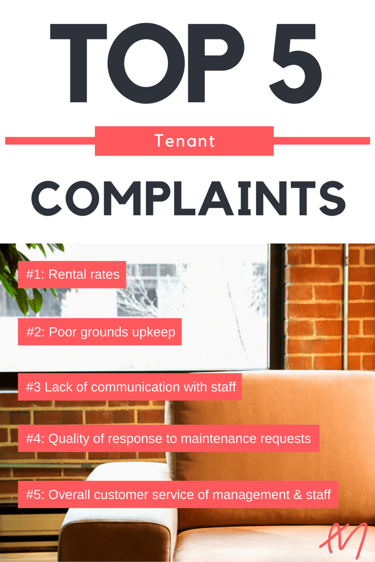 Top Apartment Resident Complaints