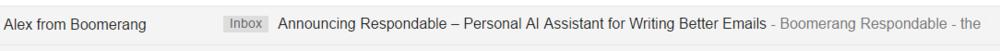 Desktop Email Subject Line