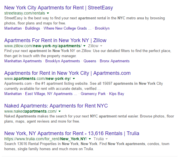 New York Apartments Search