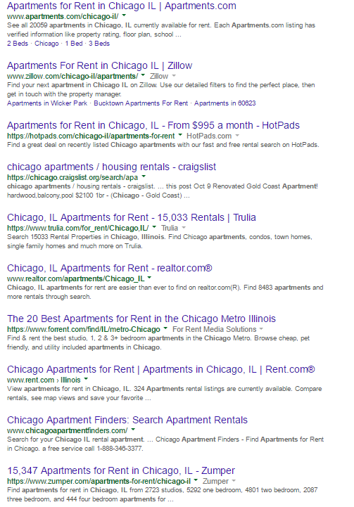 Chicago Apartments Search Results