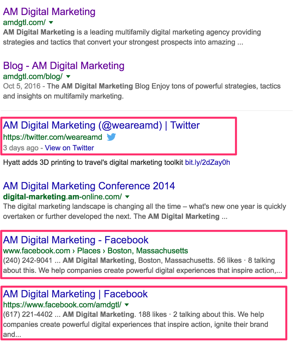 Search results for AM Digital Marketing