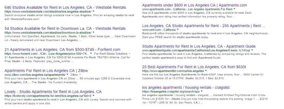 apartment listing sites