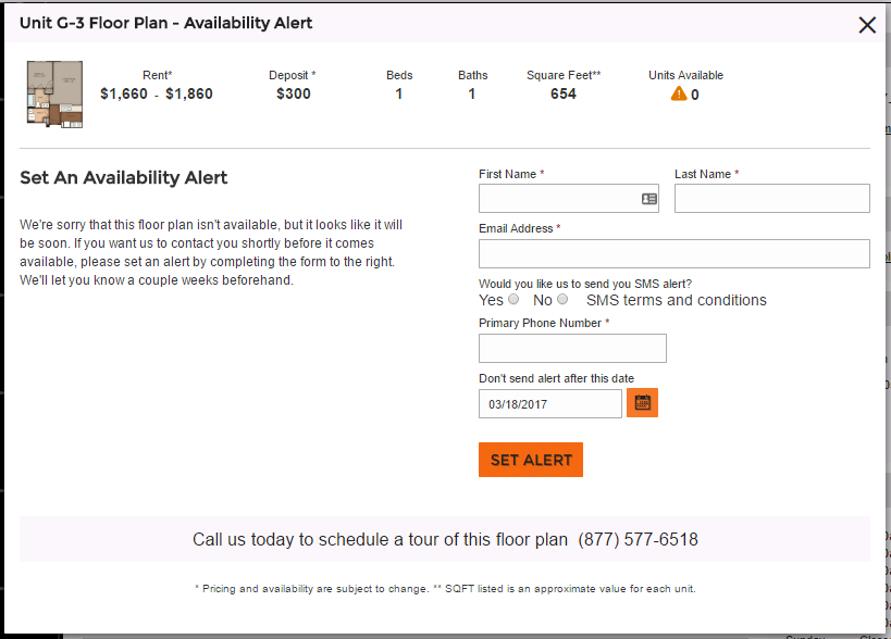 Apartment Availability notification