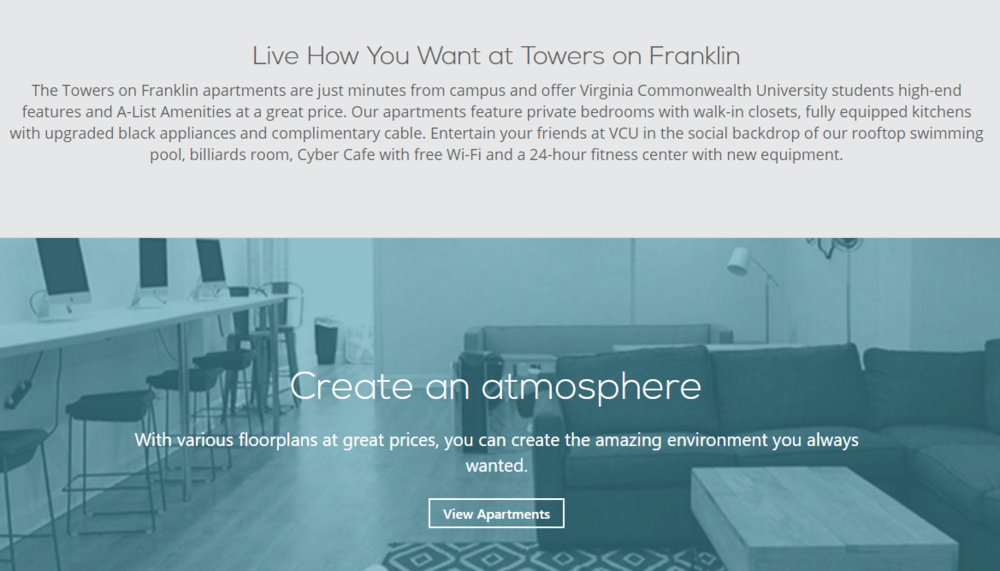 Towers on Frankling Apartment Branding