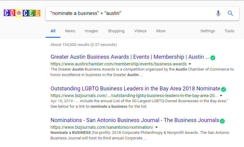 Using the above syntax in a Google search makes it so results with both these exact phrases show up.