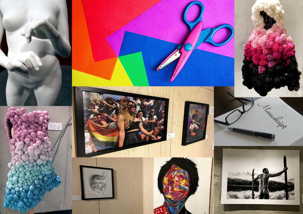 Du kan delta med f.eks. foto, maleri, tekst, skulptur, håndverk, tekstil og lignende.