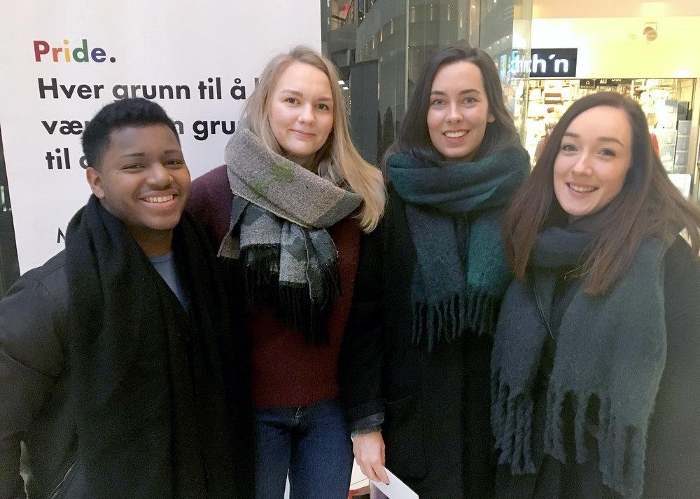 VINNERE: f.v. Magnus Alfonso Løvli, Helene Mari Vestad, Kristina Nyvoll Pedersen og Malin Cecilie Karlsen.
