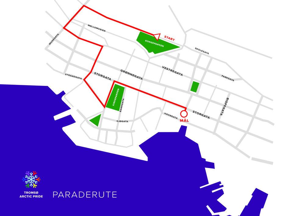 GJENNOM SENTRUM   : Paraden begynner på Kongsbakken og ender opp på Stortorget.