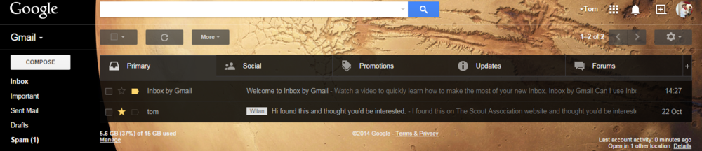 Your clean new gmail