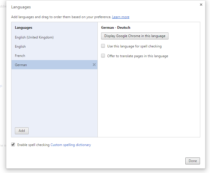 "6) Click ""Display Google Chrome in this language."