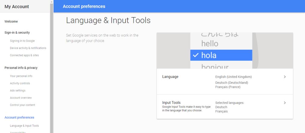 """2) Select """"Language & Input Tools""""."""
