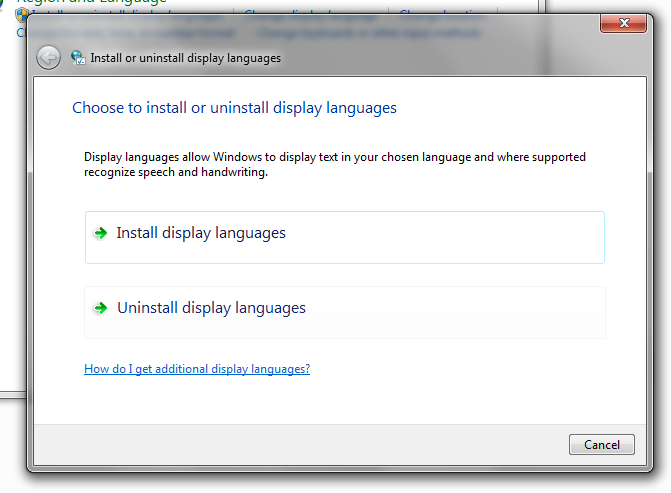 "4) Click ""Install display languages""."