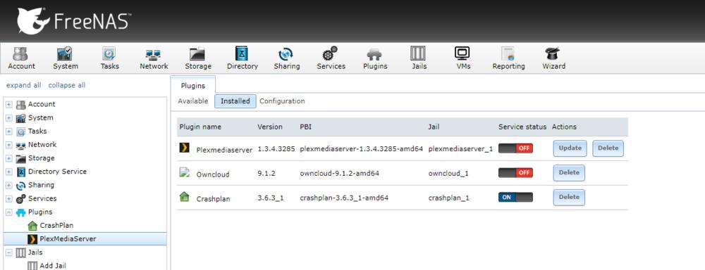 plex freenas 11.2 setup