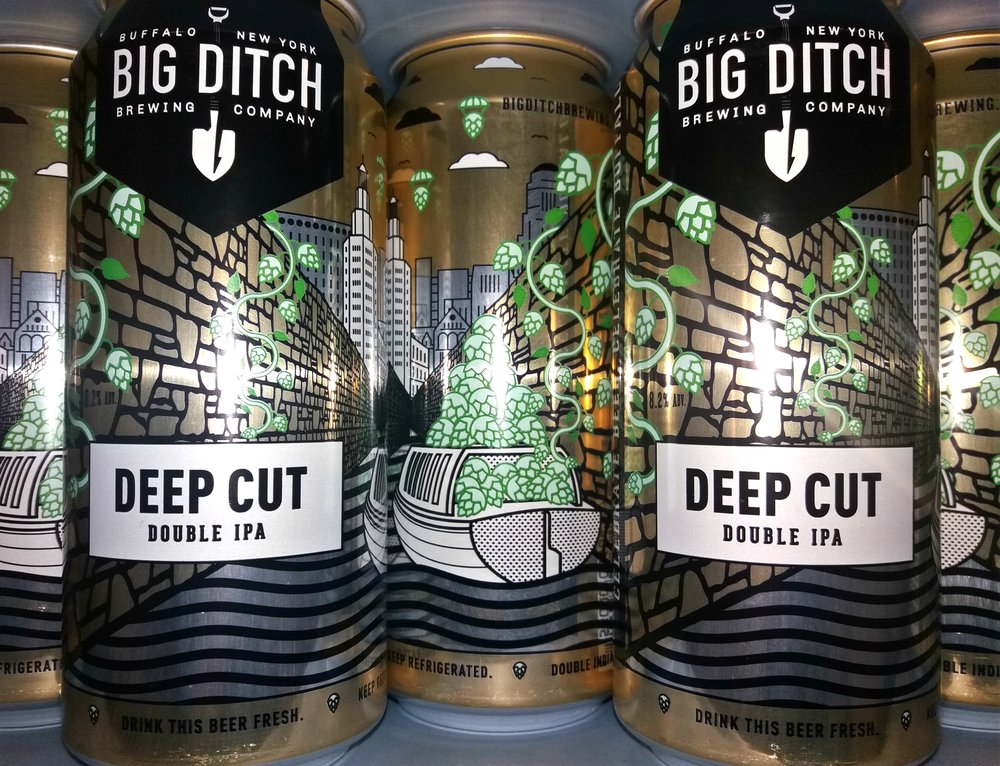Deep Cut Cans Double IPA Buffalo Craft Beer