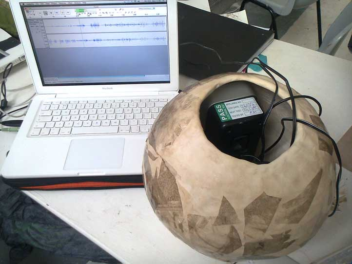 testing sound and speaker in pot