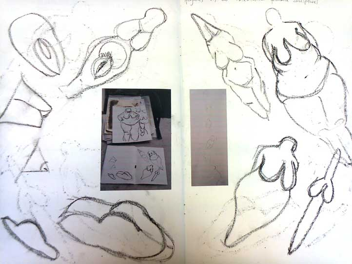 figurative life studies and sketches