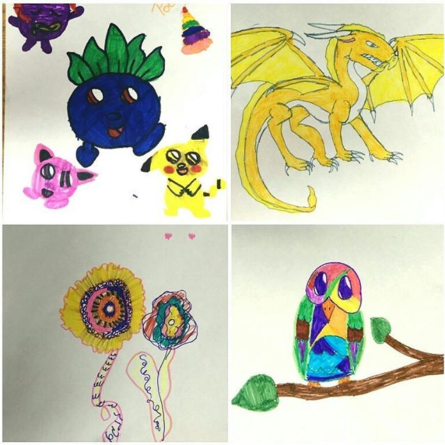 👉It's contest time!👈 Head over to our Facebook page to learn how these drawings can become glass art!  Voting will be open until Wednesday 9/28 at midnight, and the winner will be announced on Thursday. Make sure you share the pictures with your friends & family to help get those votes! . . . . . . . #wsnc #supportlocal #bestofwinston #localartists #dtws #nonprofit #westendmillworks