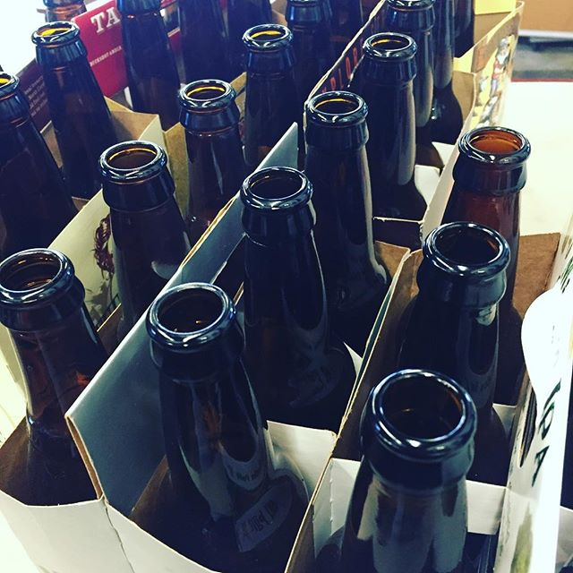 We scored a ton of clean brown bottles, thanks to an awesome lady! soon we shall melt the amber! #cantwait #recyclingatitsbest #abouttendozenmore