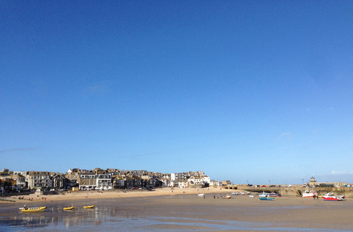 The ever beautiful view of St Ives, seen from across the harbour