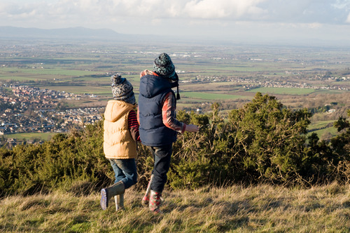 The view from Cleeve Hill, Cheltenham on a bracing winter's afternoon