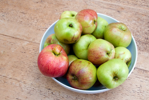 Windfall apples - the promise of sweet treats to come and autumnal afternoons spent baking