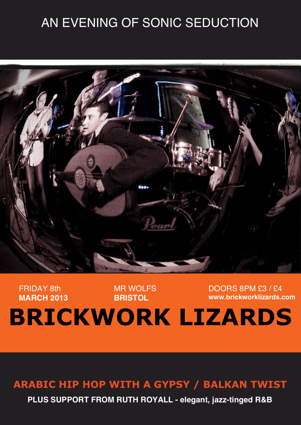 For those of you in the Bristol area, may I recommend a cheeky night out with the Brickwork Lizards? They're really rather good and I'm honestly not saying that because my husband's in the band, its because they really are THAT good. You can find out more about them here.