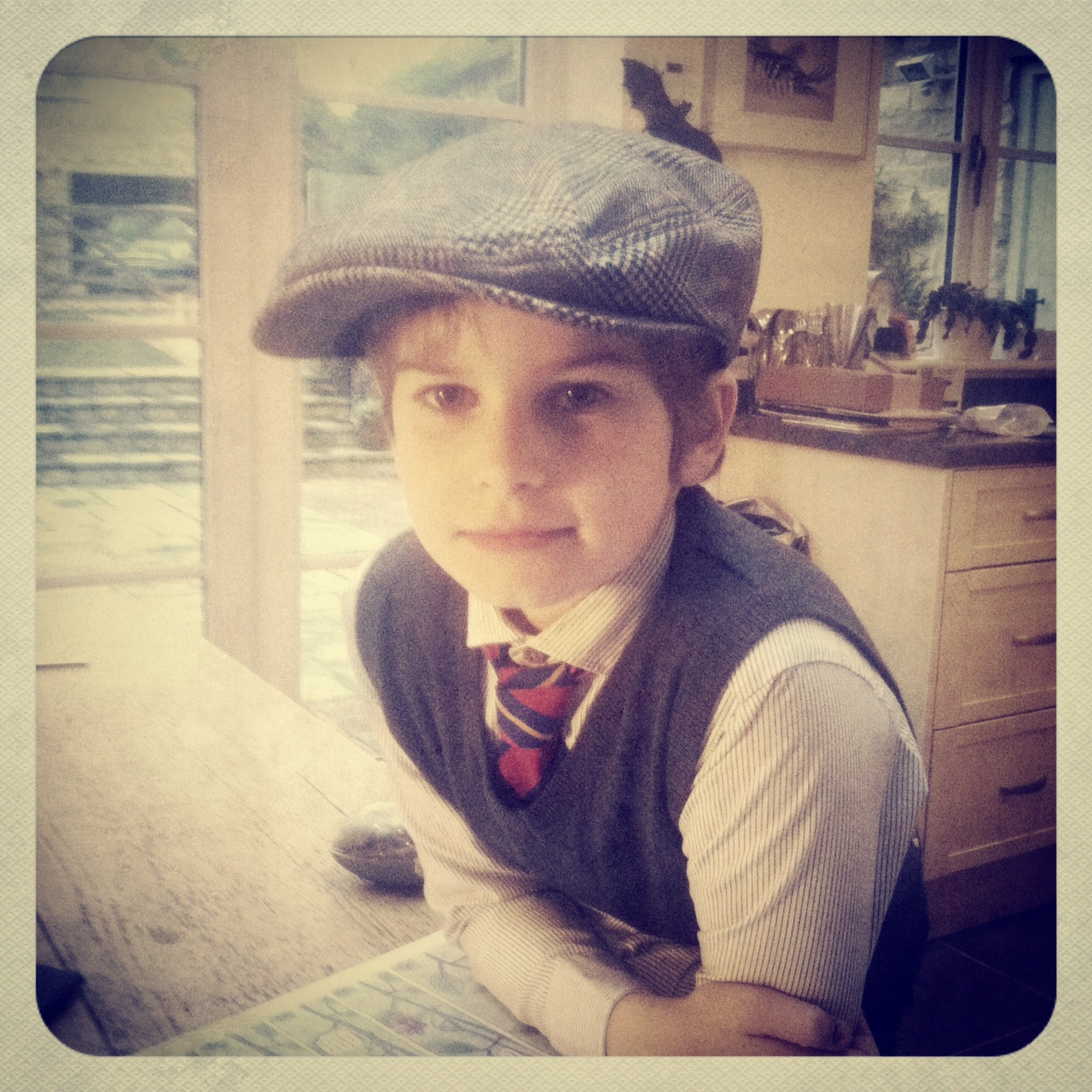 Remembering the bravery     Boy 1 dressed up as an evacuee today for his school trip as part of the Year 3 topic on World War Two. For a seven-year old boy, WW2 is topic heaven. He's been drawing gas masks, printing photographs of spitfires and building blanket Anderson shelters at every opportunity.     He's playing an evacuee in the school Christmas production too. All this has made us both realise how brave the children who were evacuated during the War must have been. Children no older than my own sent off on a journey to some unknown place, some with little brothers in tow, labels on their blazers and gas masks around their necks. It must have been terrifying. And as for the anxious, desperate mothers they left behind, well, I am in awe of their amazing courage, stoicism and fortitude in desperate times.     We are the lucky generation and I am eternally grateful to those who struggled before us to make our times easier.