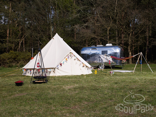That pad's got Soul…    This morning I am beyond excited as we bought our very own bell tent from  these nice people  last night. We're not really khaki nylon campers at heart, much preferring a few scatter cushions and ideally a proper bed in our back-to-nature experiences, so investing in our very own beautiful bell tent, which by law has to be accessorised by bunting and comfy pillows, seems to fit with those aspirations nicely.   We've planned a summer of camping out and adventuring with the boys (more on that in a couple of weeks) and our bell tent will be a beloved addition to our summer I'm sure.   I can't wait!
