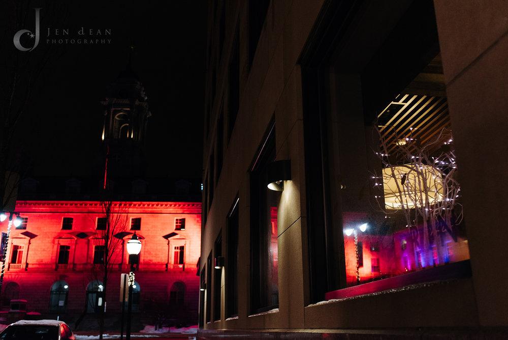 Portland City Hall lights
