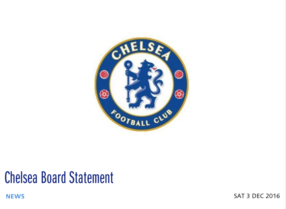 Official statement from Chelsea F.C. on sexual abuse investigation.