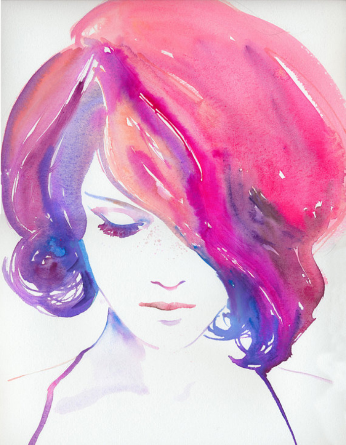 watercolor-girl