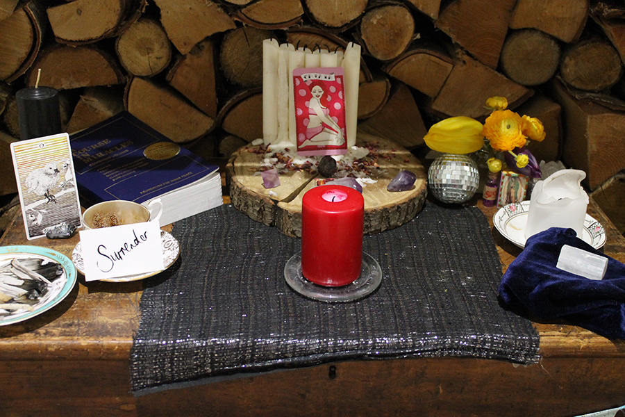 WHAT MY ALTAR LOOKS LIKE TODAY.