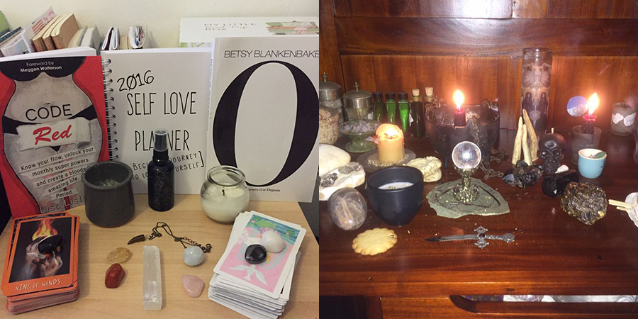 Emily and Samantha's altars look very different from each others but you can tell they both hold a lot of meaning.