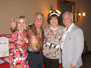 (Left to Right) Sharon Reece (co chair);  Mike Reece; Cherry & JJ Ruffino