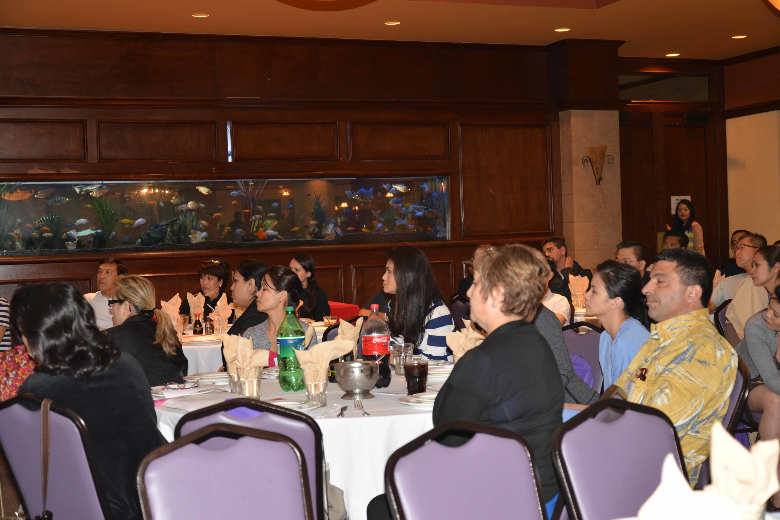 Dentists from across Houston listen as Dr. Reece lectures; prior to enjoying a 7 course meal at the famous Kim Son Restaurant.