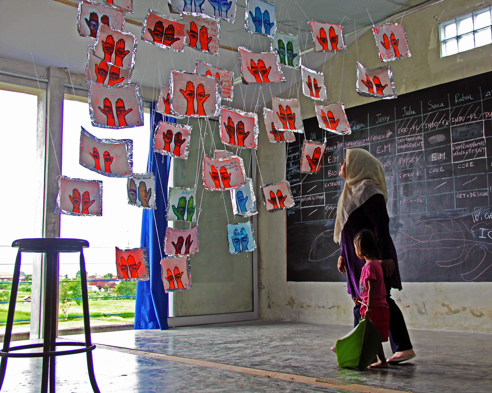 Installation at Community Learning Center (CLC), Bali, Indonesia, 2016. Photo courtesy of artist.