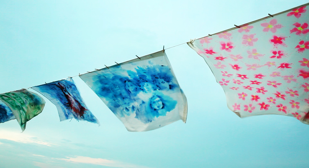 'Leviathan: The Montauk Portrait Project, Phase III - Oversize Clothesline' (2014)
