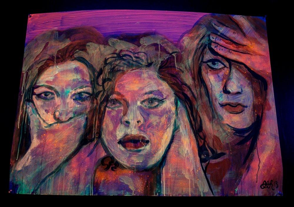 'Speak No, Hear No, See No' (2013) Image courtesy of Jesse Winter.