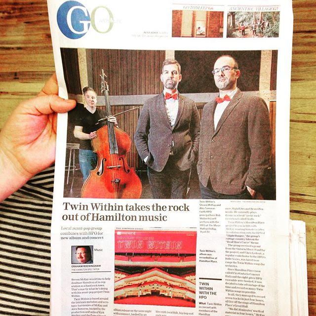 Sweet write-up in the ol' Hamilton Spectator today for the big @hamiltonphilharmonic smash we're having Friday.
