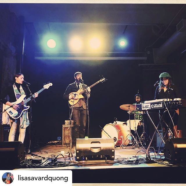 Repost @lisasavardquong Manifested some serious holiday spirit last night with @twin_within opening up for the incomparable @theopears Great snap courtesy of @the_dill