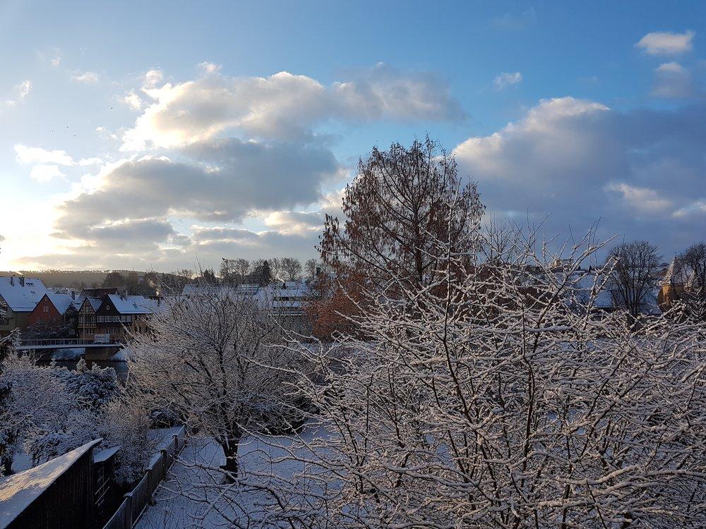 - Blick vom Seminarhaus zur Neckarbrücke