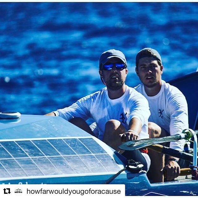 PODCAST ALERT!  #Repost @howfarwouldyougoforacause  We're all going about our daily lives, while Kurt and John are rowing a small boat across the Atlantic Ocean to raise awareness for the SamFund. If you want to tune in on how it's going for them, check out How Far Would You Go's 2nd podcast. Http://www.howfarwouldyougo.org/hfwyg-podcast-episode-2/ (link in bio^^**) #twac #row32north #thesamfund