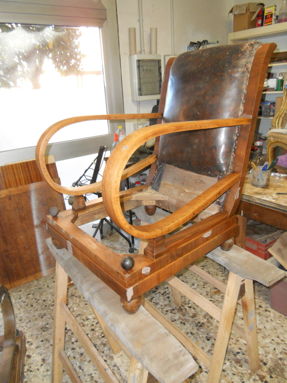 Art Deco armchair - restoration in progress
