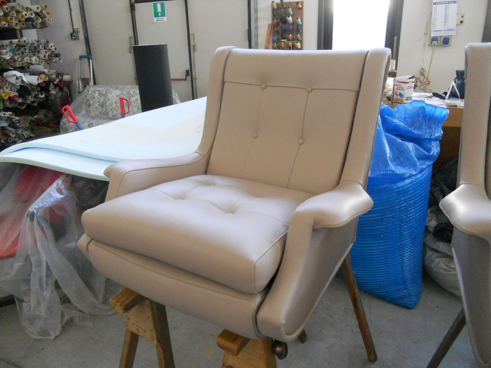 our Regent armchair while under restoration