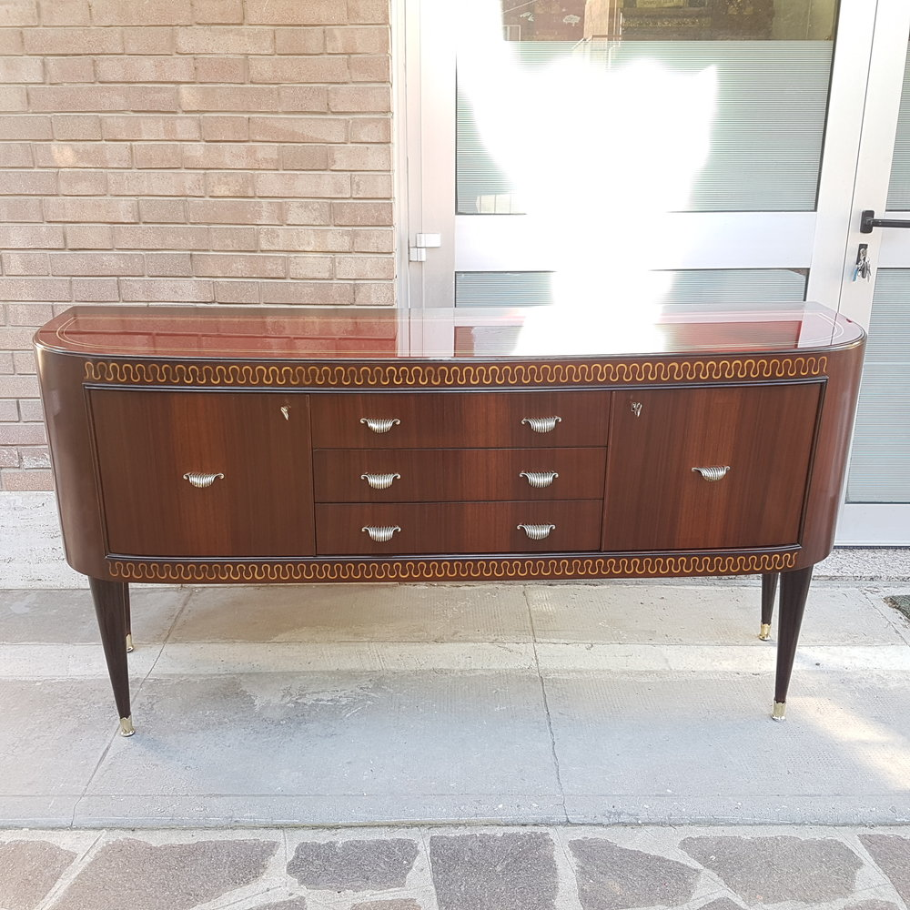 After restoration Italian Mid Century Sideboard