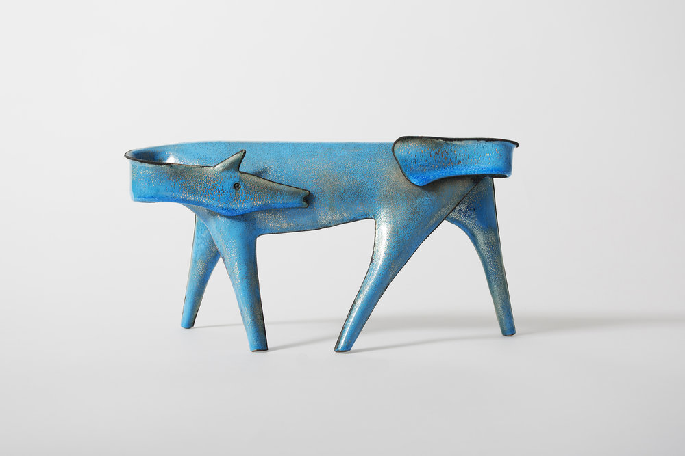 Giò Ponti (Italian, 1891–1979) and Paolo De Poli (Italian, 1905–1996) Horse, ca. 1956 Enameled copper and silver - Courtesy of Casati Gallery