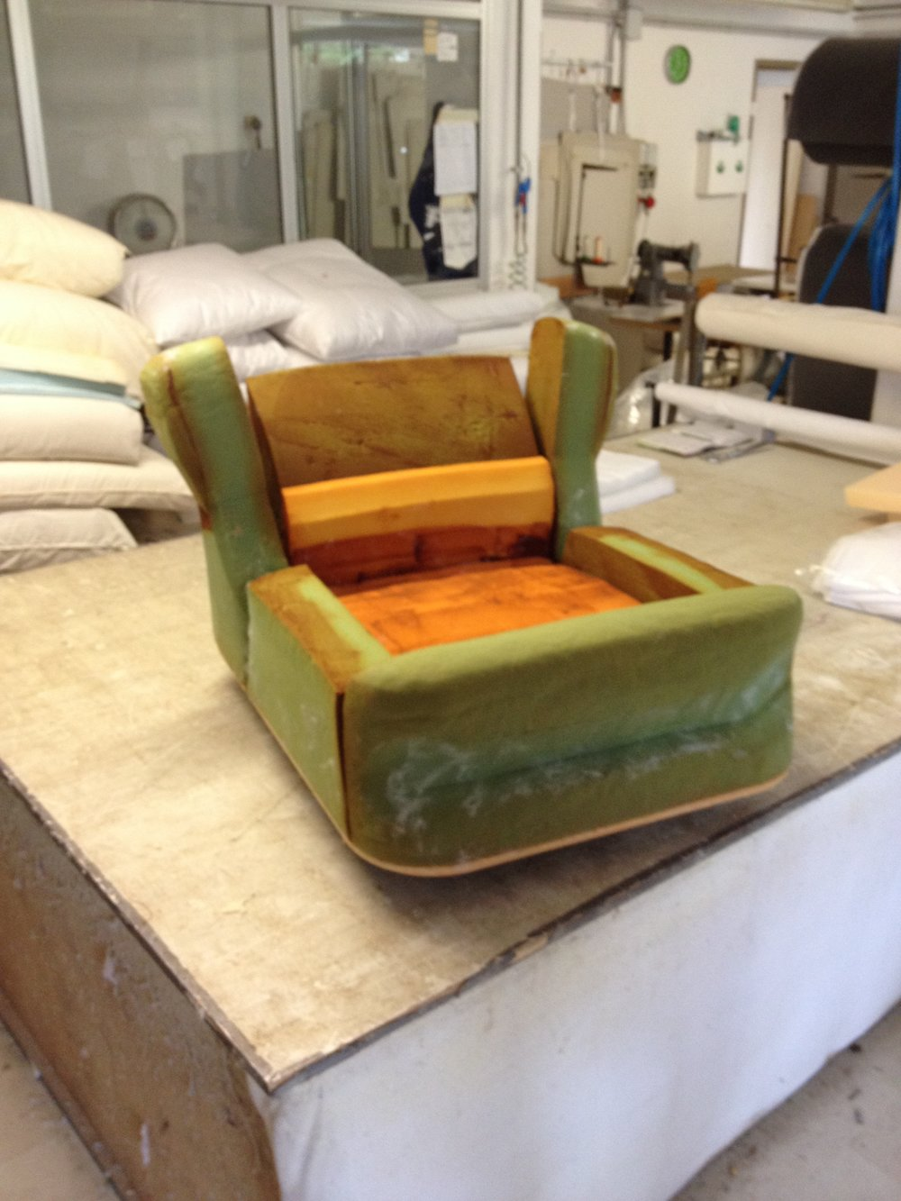 Restoration of a Soriana Lounge Chair - we basically tear it apart and check all of the foam and structure.
